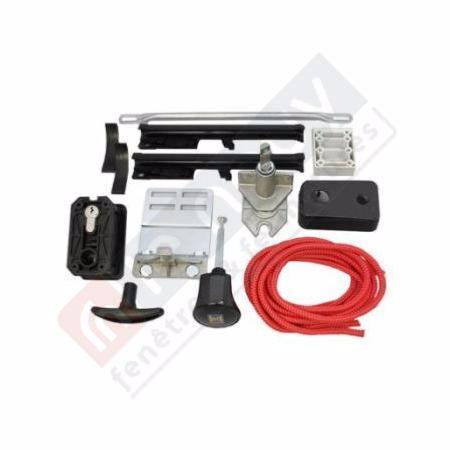 Kit serrure poign e pour porte sectionnelle h rmann for Porte de garage industrielle hormann