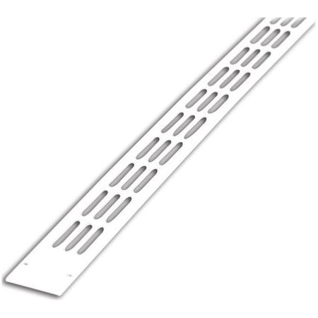Grille alu Plate - BLANC 9010