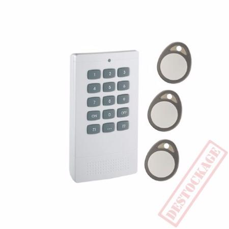 Clavier commande RFiD + 3 badge RFiD