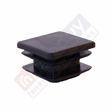 Embout 30x30 noir pour portail de jardin pvc for Portail de jardin en pvc